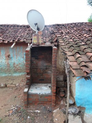 Defunct toilet in Panna, Madhya Pradesh, India