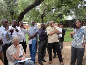 Participants at the annual review meeting of the Pan Africa project in Lilongwe