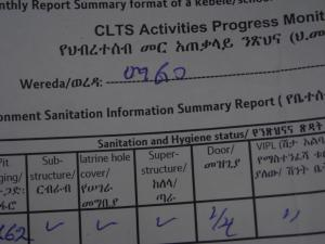 CLTS monitoring form, Ethiopia