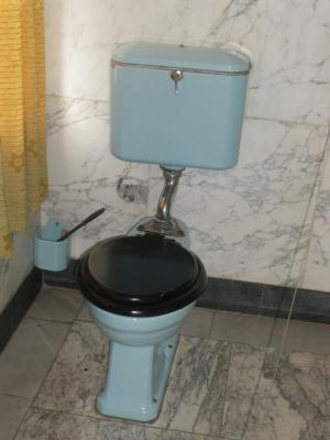 the toilet of the Ethiopian Emperor Haile Selassie at the Ethnographical Museum