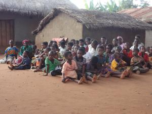 Community members in Jima village