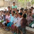 Children in Yar Gyi Daw Village, Myanmar, confirm that they now have a toilet at home