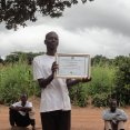 Chief of Chipochongo village with ODF certificate